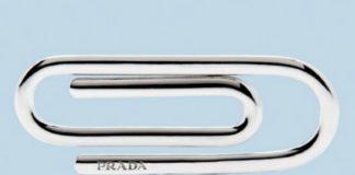 Srebrny spinacz do papieru od Prada