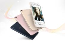 4 telefony ASUS ZenFoneLive, na pierwszym zdjęcie Julii Wieniawy