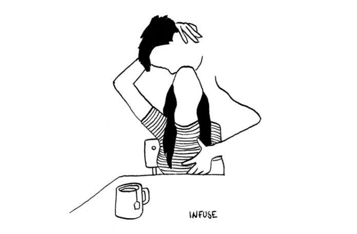 Ilustracja przedstawiająca całująca się parę