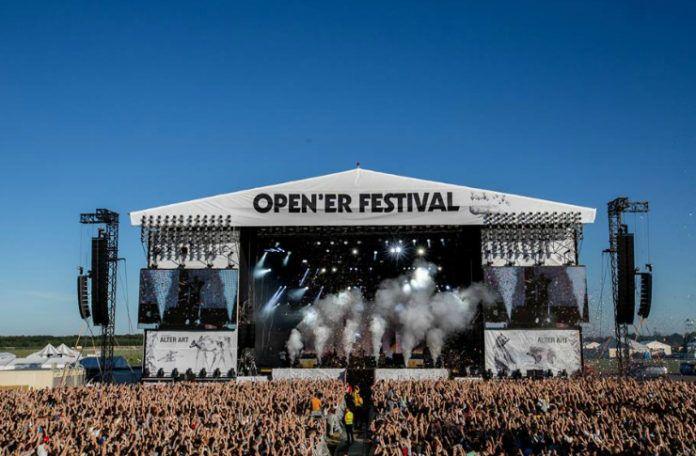Zdjęcie sceny na festiwalu Open'er