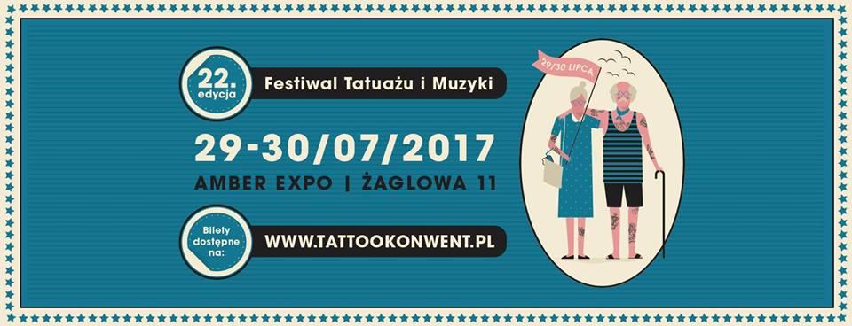 Plakat promujący imprezę Gdańsk Tattoo Konwent