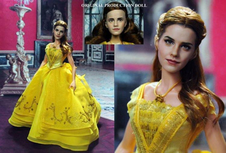Lalka Emmy Watson w żółtej sukni