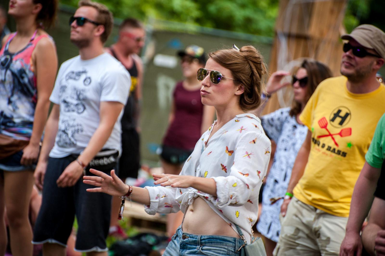 Ludzie na festiwalu Audioriver
