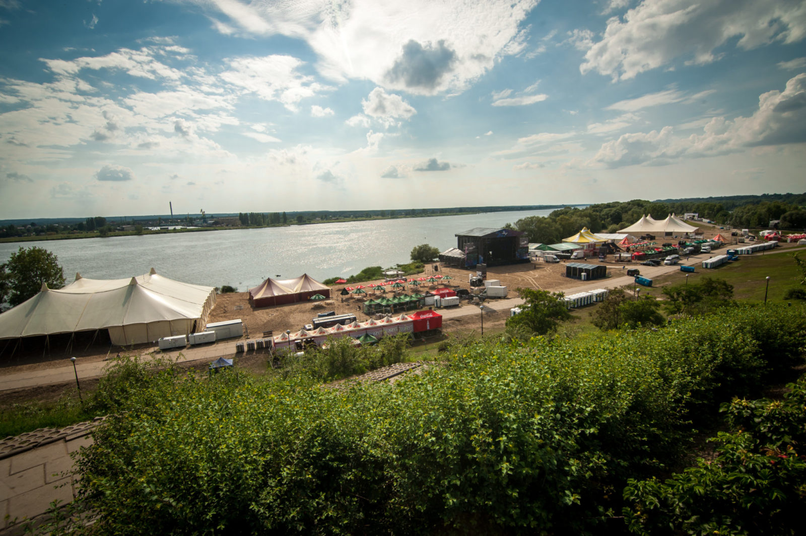 Widok na teren festiwalu Audioriver