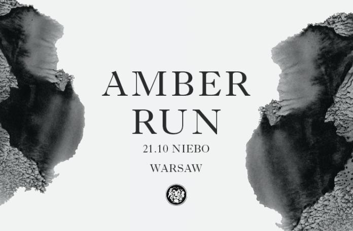 Plakat promujący koncert Amber Run w klubie Niebo