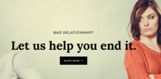 Zrzut ekranu ze strony BreakUp Shop