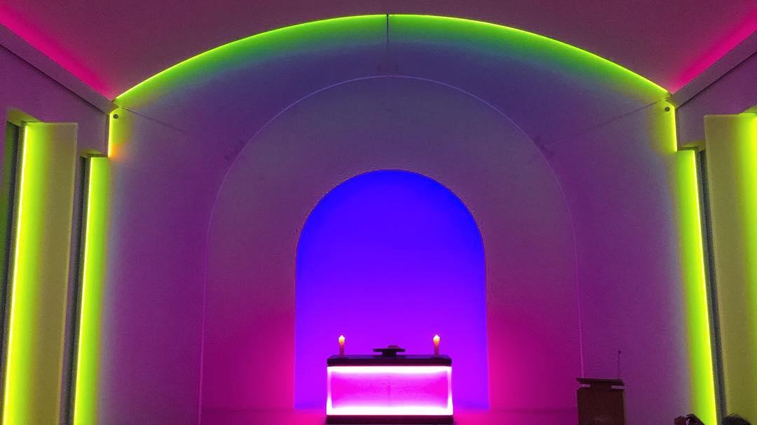 Oświetlona kaplica