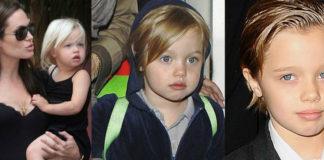 Trzy zdjęcia Shiloh Pitt