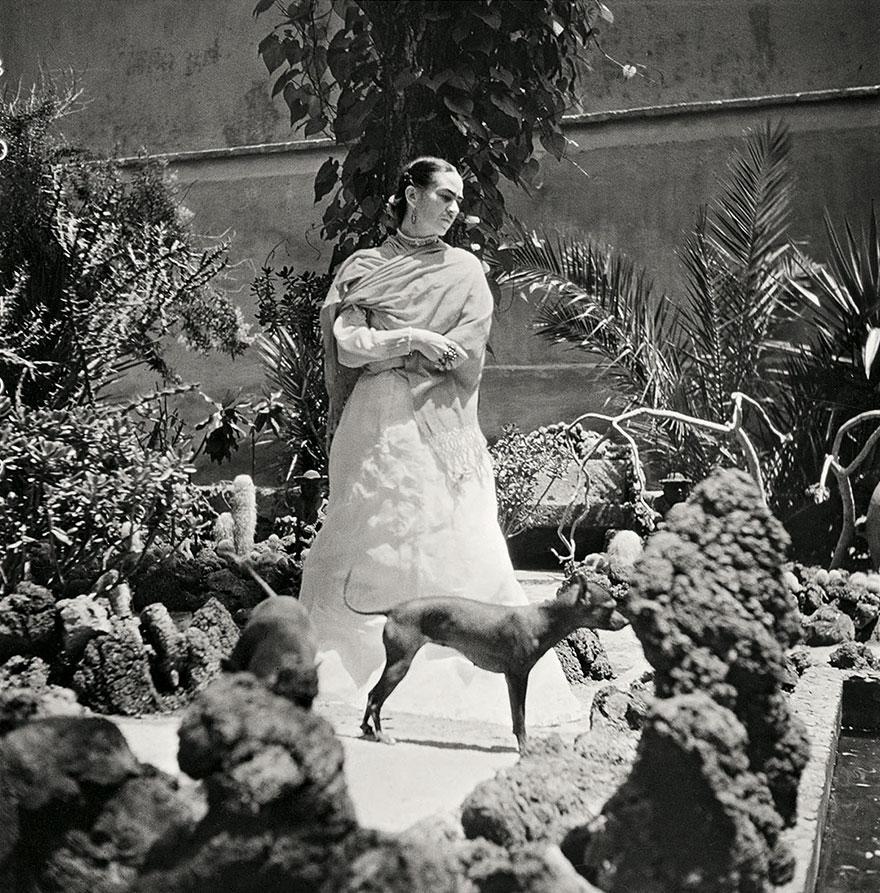 Kobieta stojąca na dworze w otoczeniu psa