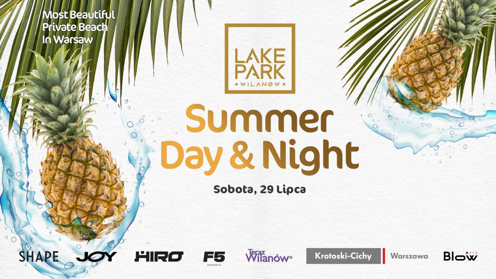Grafika promująca Summer day&night x LAKE PARK Wilanów