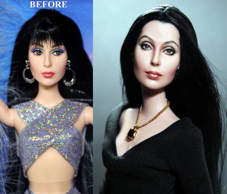 Lalka przedstawiająca wokalistkę Cher