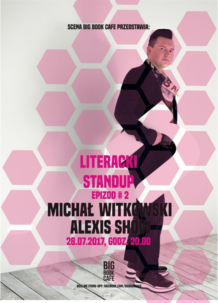 Plakat promujący stand-up Michała Witkowskiego