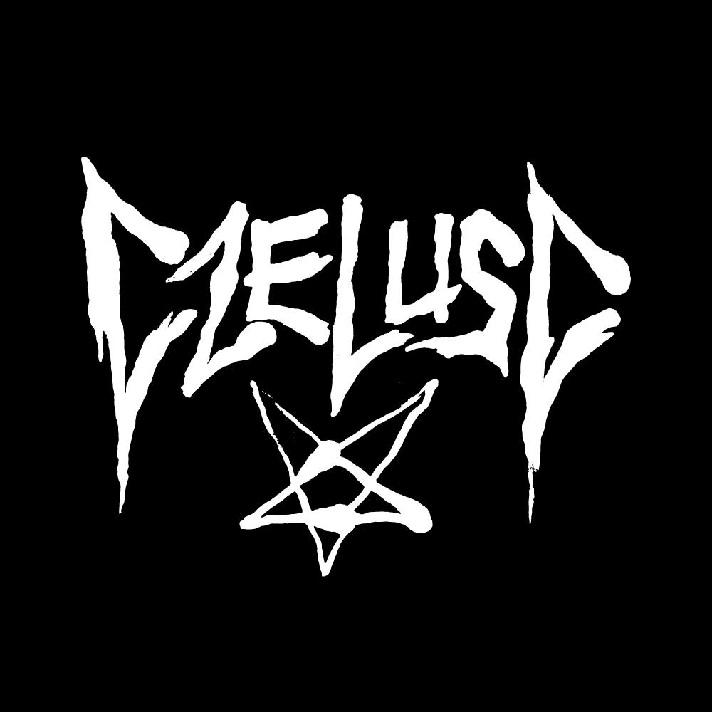 Logotyp CZeluść n czarnym tle