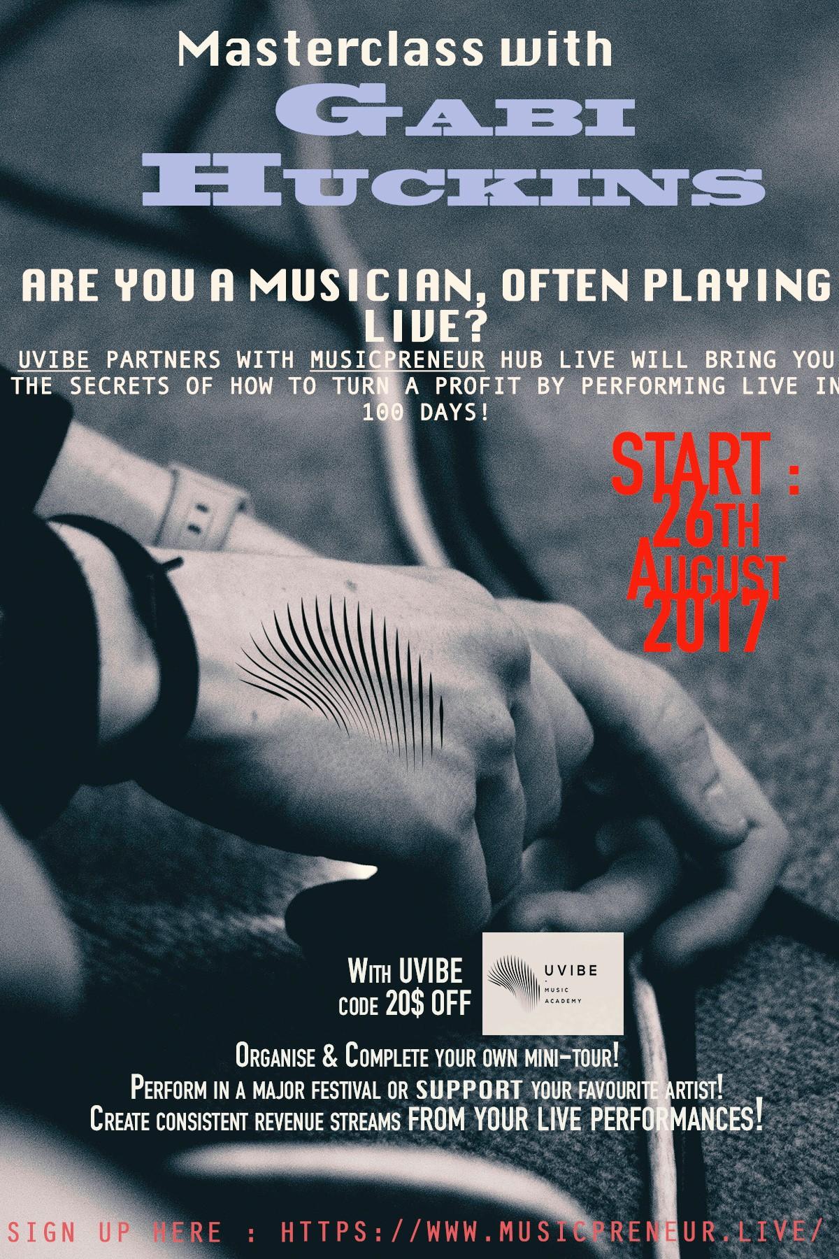 Plakat wydarzenia Masterclass z Gabi Huckins
