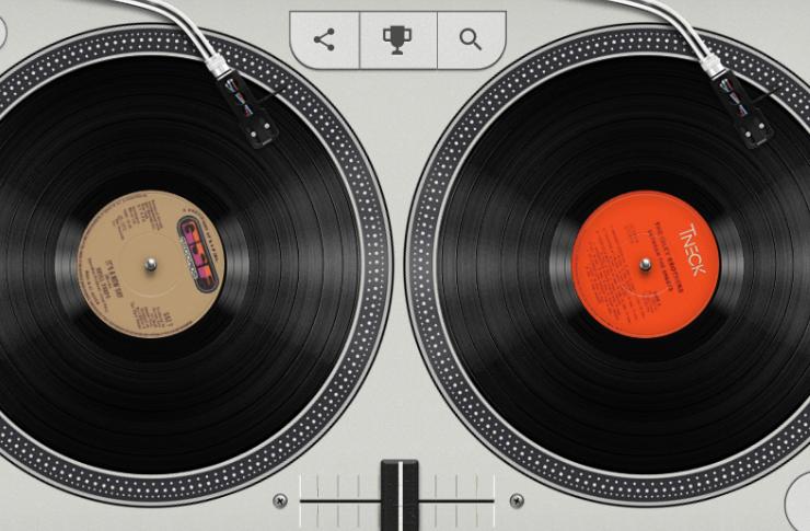 Dwie wirtualne płyty gramofonowe