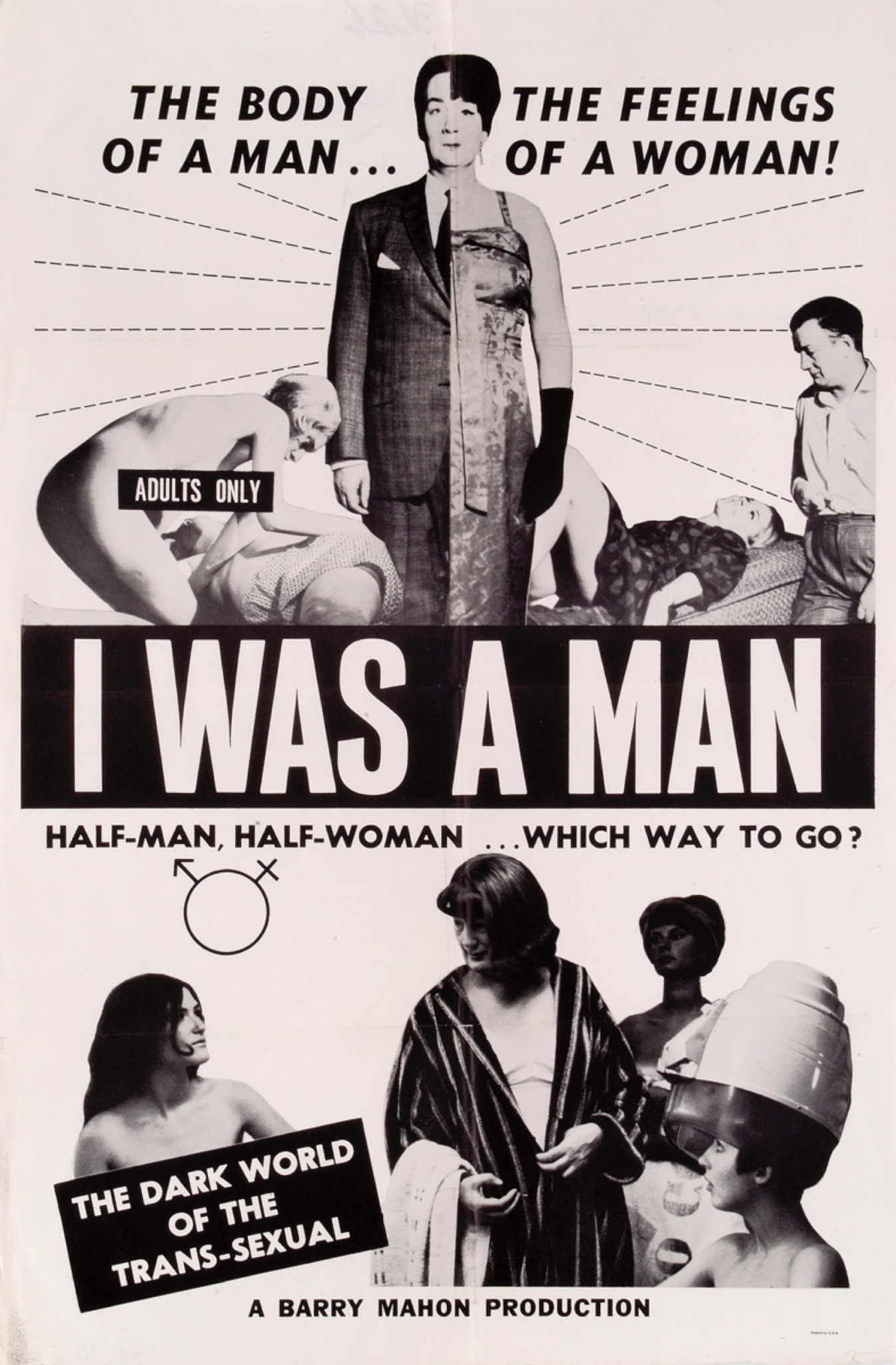 "plakat filmu ""I Was A Man"", 1967"