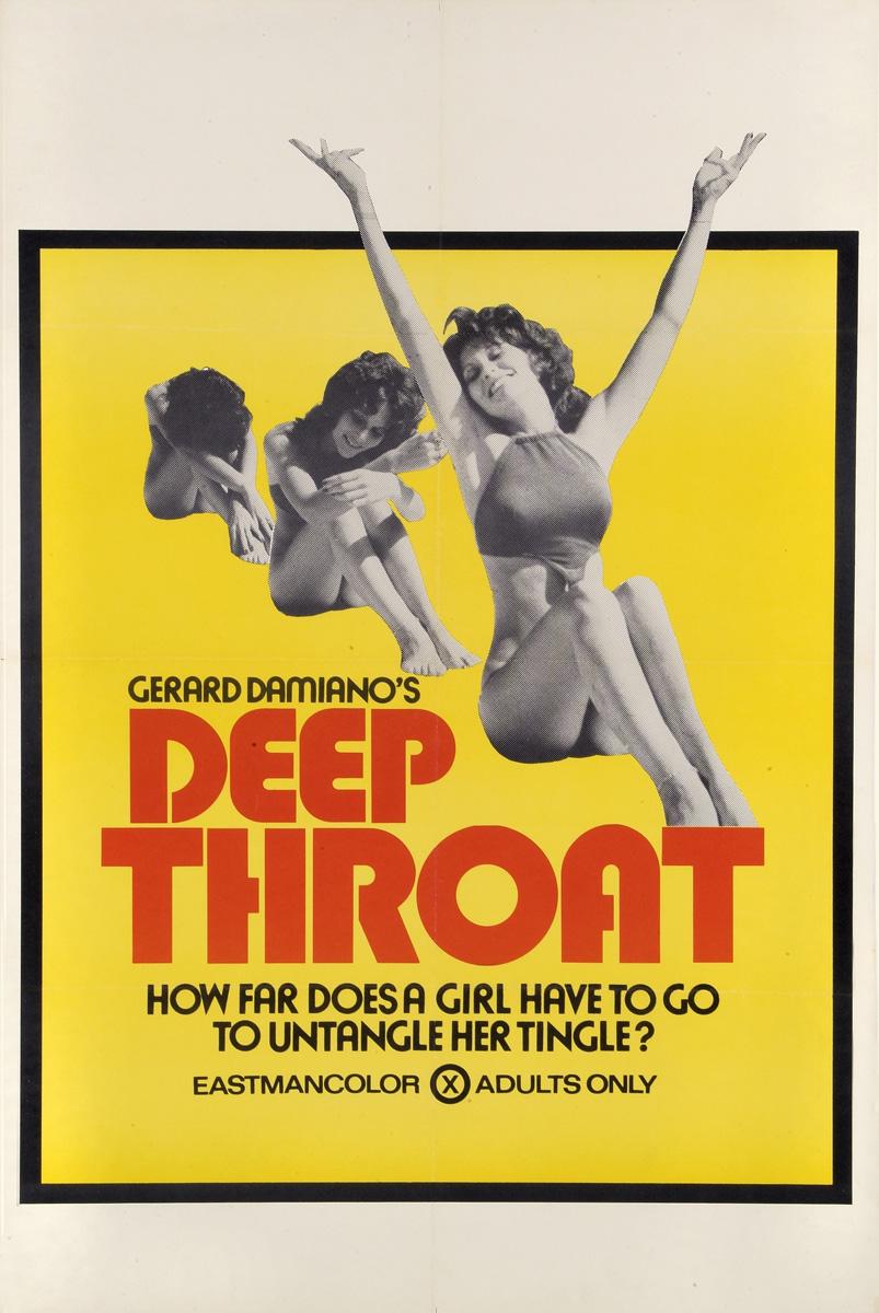 "plakat filmu ""Deep Throat"", 1972"