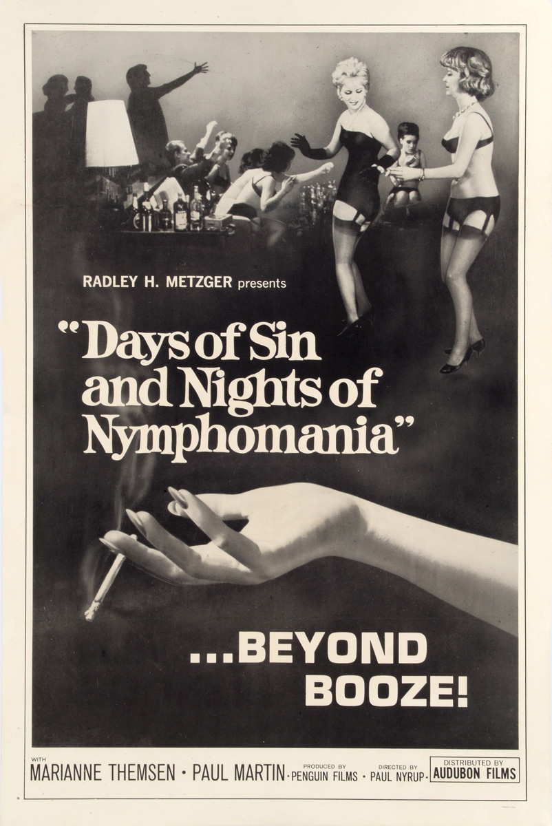 "plakat filmu ""Days Of Sin and Nights Of Nymphomania"", 1963"