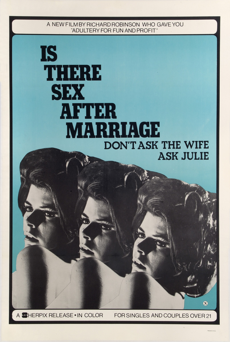 "plakat filmu ""Is There Sex After Marriage"", 1973"