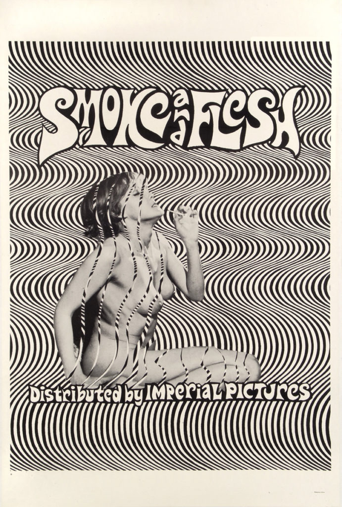 "plakat filmu ""Smoke and Flesh"", 1968"