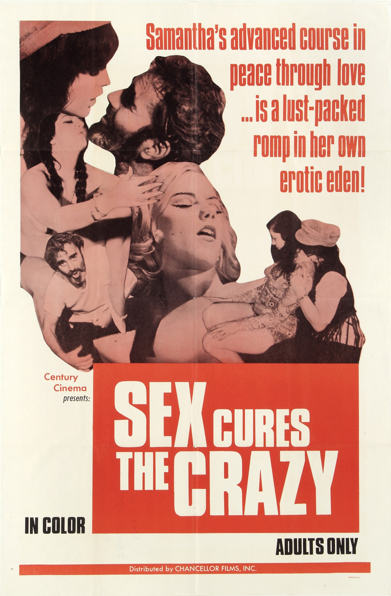 "plakat filmu ""Sex Cures The Crazy"", 1968"