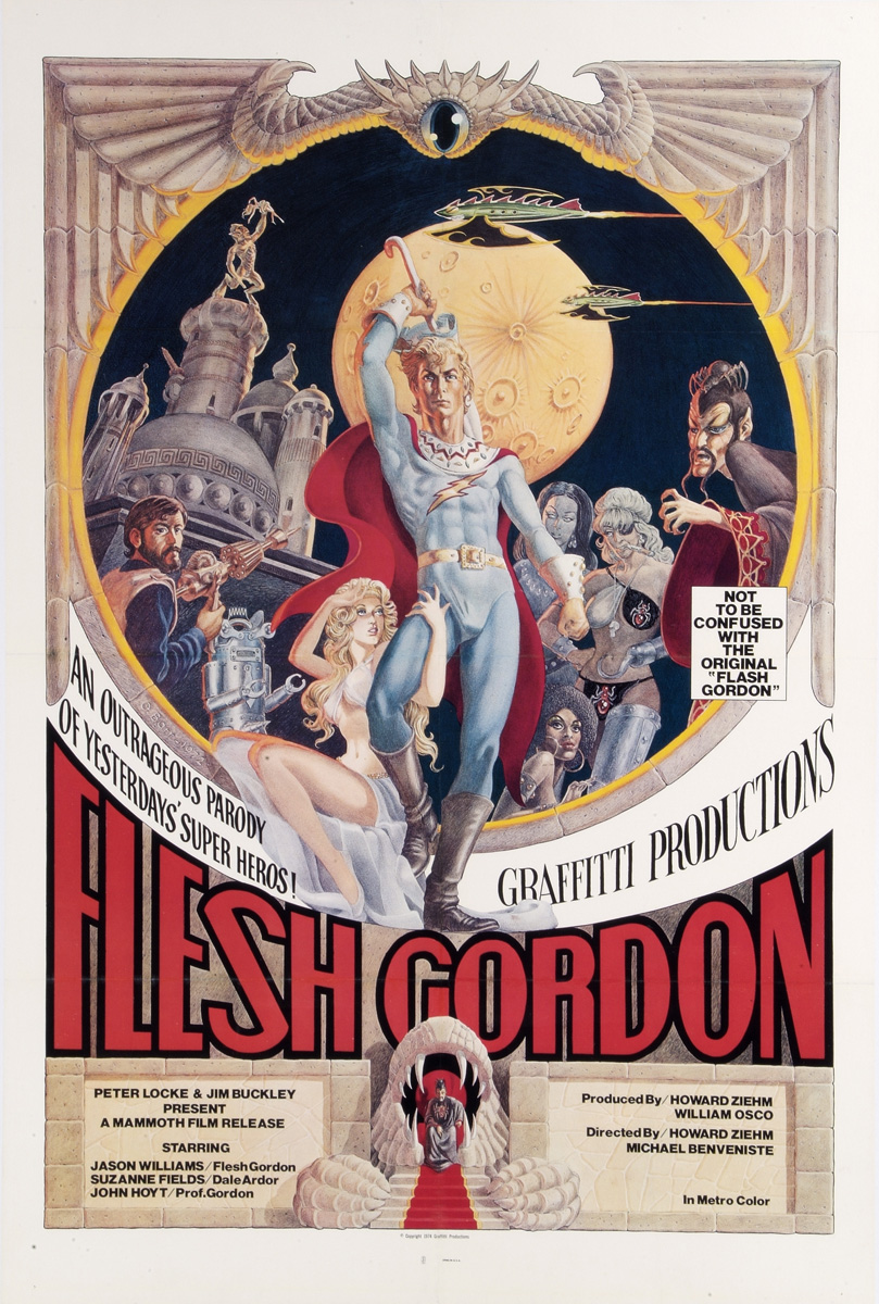 "plakat filmu ""Flash Gordon"", 1974"