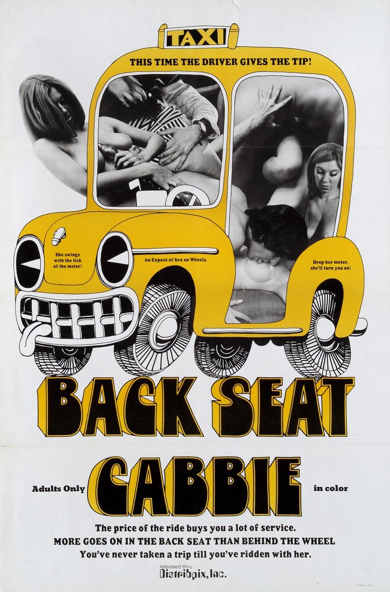 "plakat filmu ""Back Seat Cabbie"", 1969"