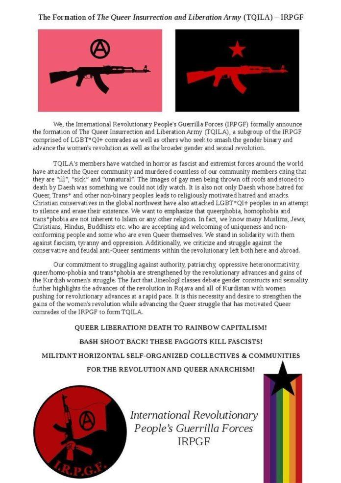 Zdjecie oswiadczenia grupy TQILA. Widać napisany przez nich tekst oraz dwa logotypy.