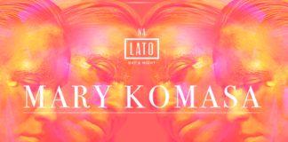 Plakat promujący koncert Mary Komasy