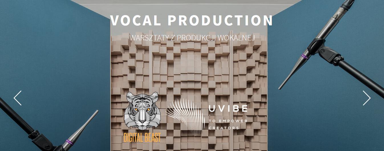 Zrzut ekranu ze strony promującej warsztaty wokalne