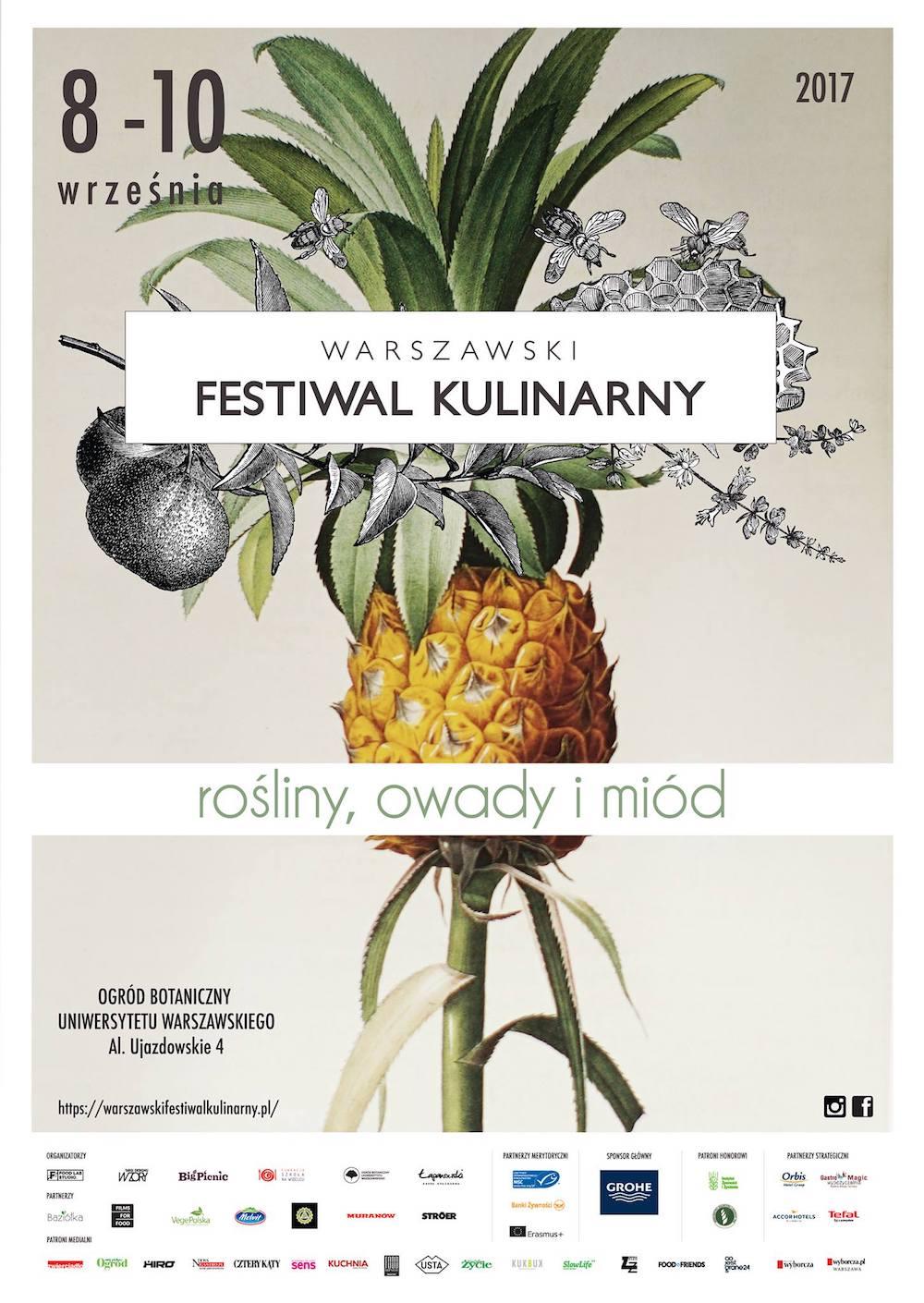 Plakat zapowiadający Warszawski Festiwal Kuliarny