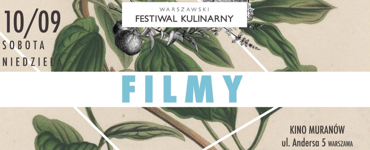 Plakat promujący Films For Foods od Warszawskiego Festiwalu Kulinarnego