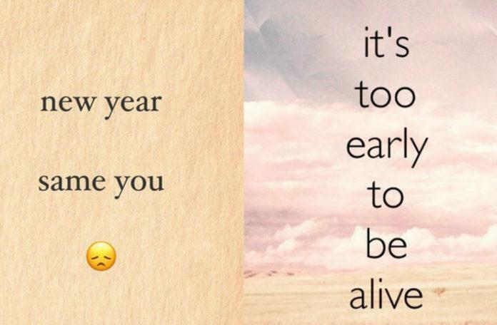 Dwa cytaty z instagrama