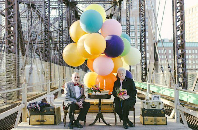 obrazek przedstawiający małżeństwo świętujące swoją 61 rocznicę