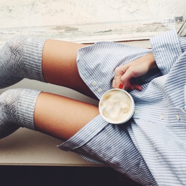 zakolanówki i latte