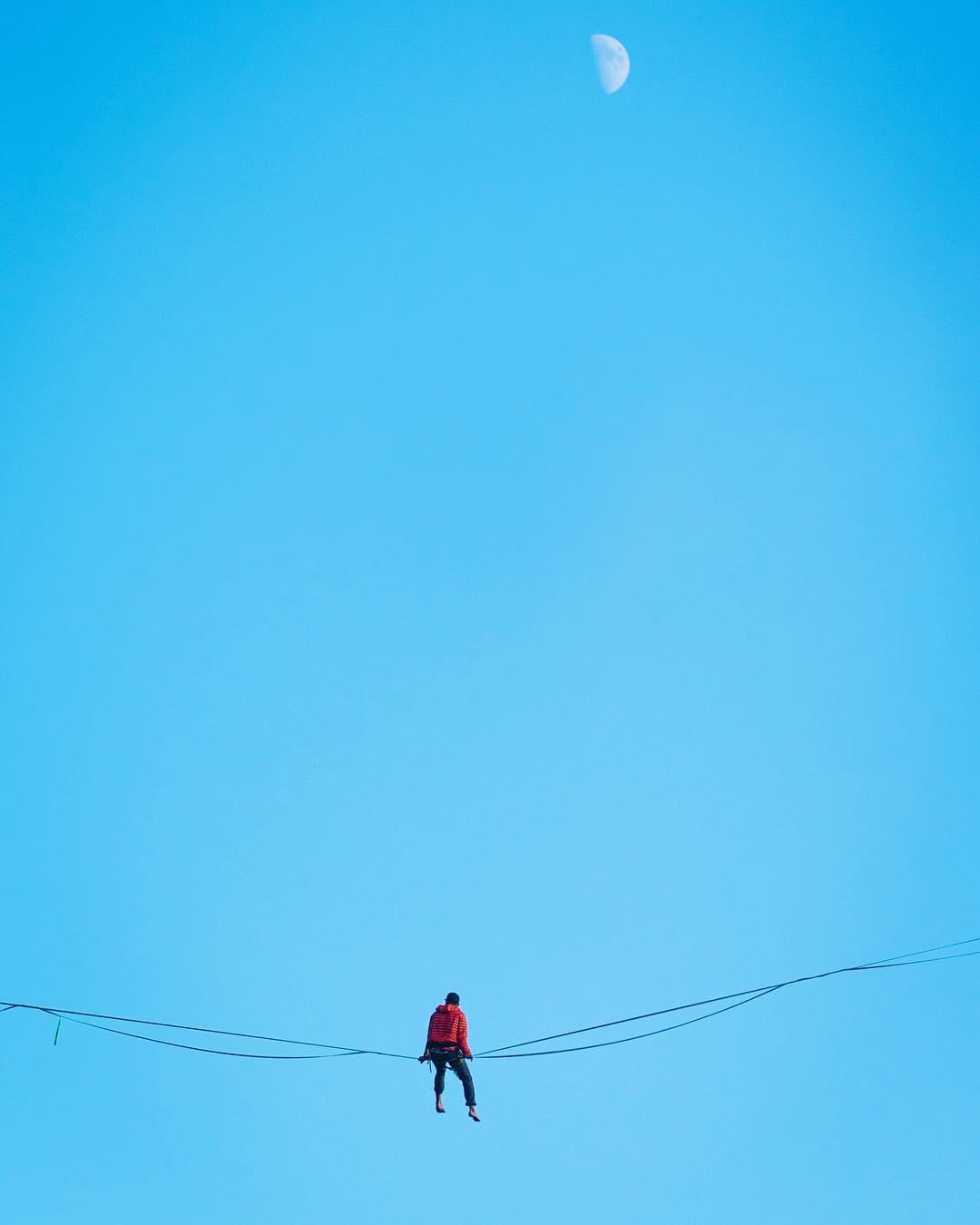 Człowiek na linie