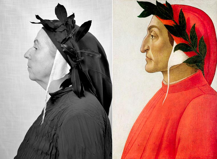 Porównanie obrazu do zdjęcia Laury, które przedstawia to samo co na obrazie.