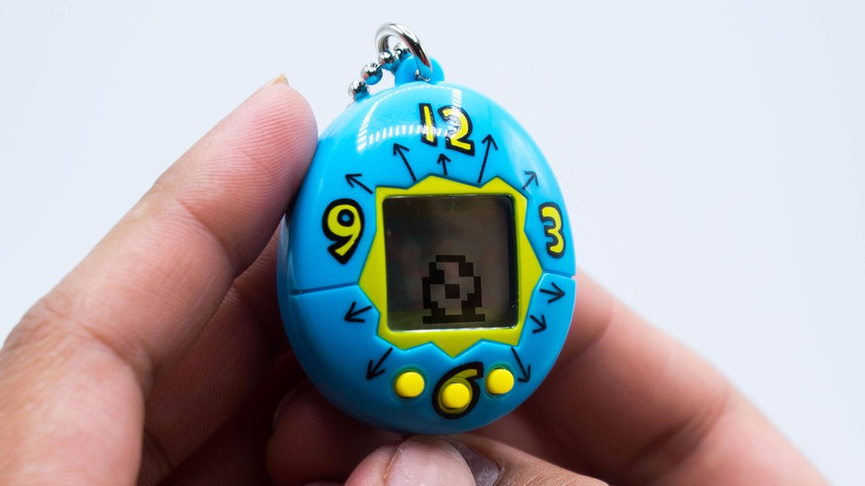 Elektroniczna zabawka w kształcie jajka