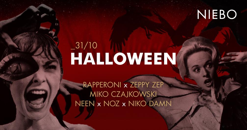 Plakat promujący Halloween w Niebie