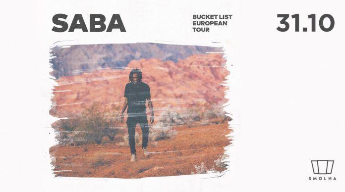 Plakat promujący koncert Saba