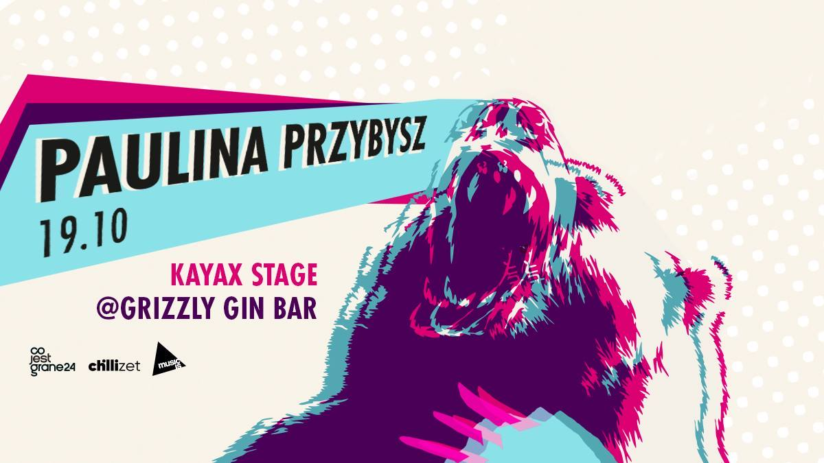 Plakat promujący koncert Pauliny Przybysz