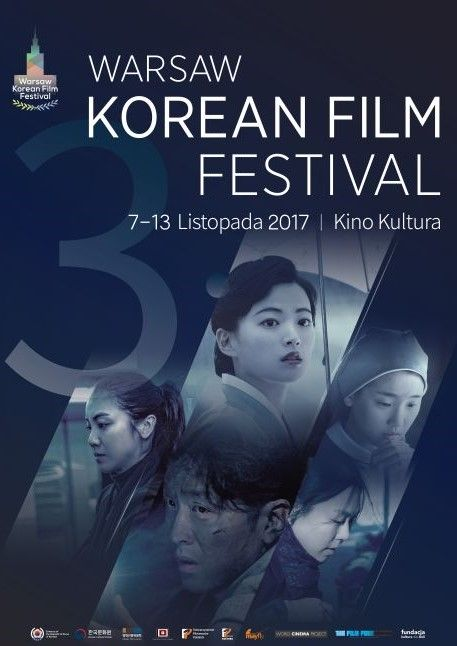 Plakat promujący Festiwal Kina Koreańskiego w Warszawie