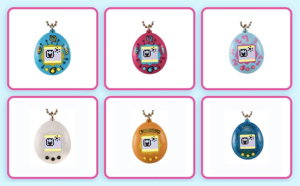 Sześć elektronicznych zabawek w kształcie jajka