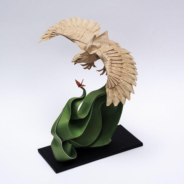 ptak z origami
