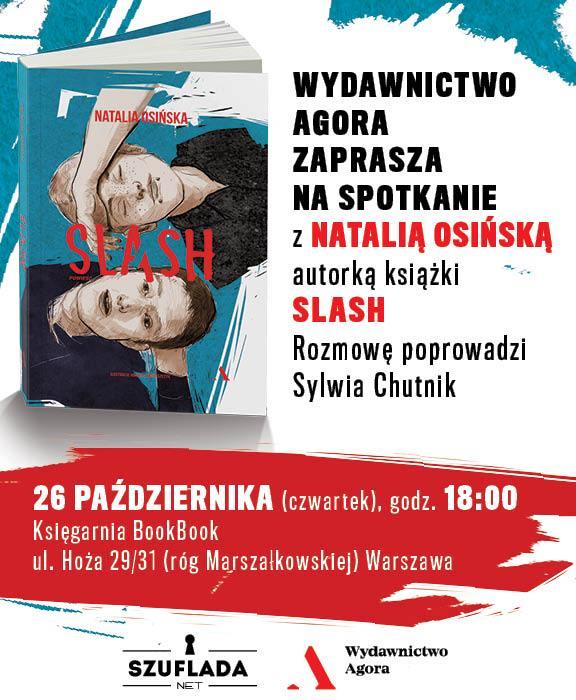 Plakat promujący spotkanie z Natalią Osińską