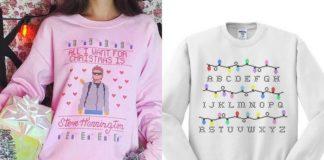 Bluzy z motywami stranger things