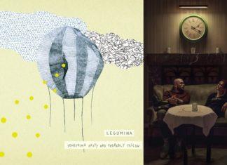 Płyta Leguminy i kobieta z mężczyzną siedzący przy stole