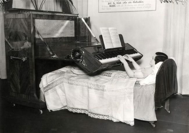 Łóżko z pianinem