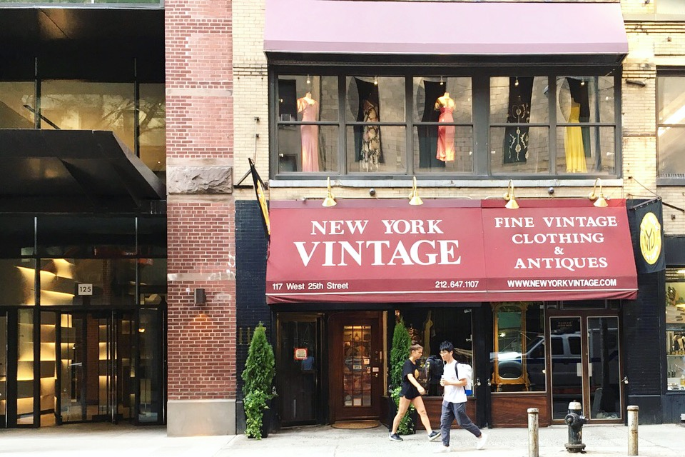 Budynek z lumpeksem w Nowym Jorku