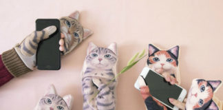 Rękawiczki wyglądające jak kot